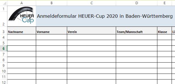 Anmeldeformular HEUER-Cup